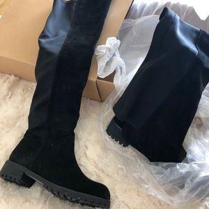 Never worn Knee high boots